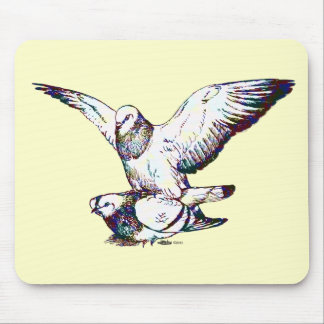 Pigeons Mating Mouse Pad