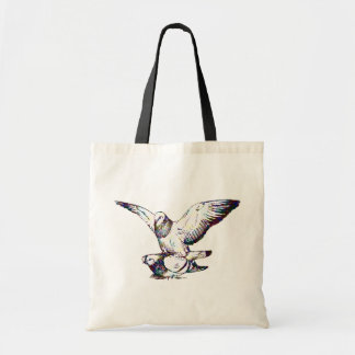 Pigeons Mating Tote Bag