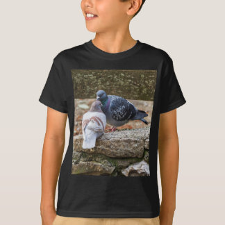 pigeons on lake T-Shirt