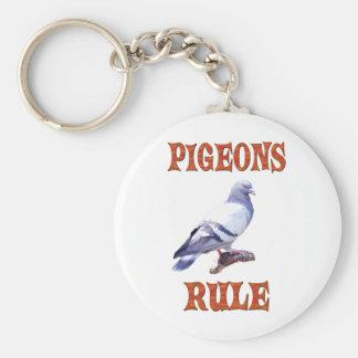 Pigeons Rule Key Ring