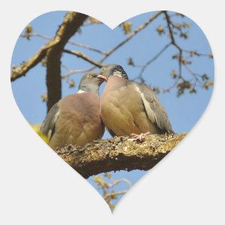 pigeons heart sticker