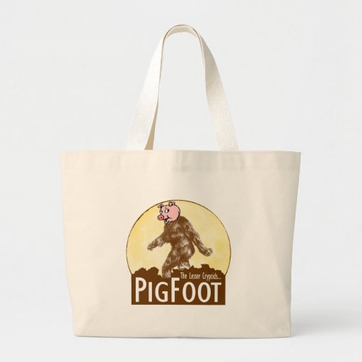 PIGFOOT The Lesser Cryptid - Funny Sasquatch Canvas Bags