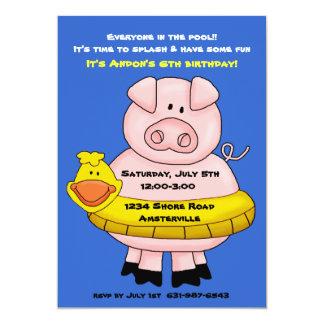 Piggie Float Invitation 2