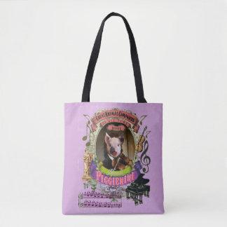 Piggienini Funny Cute Pig Animal Composer Paganini Tote Bag