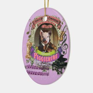 Piggienini Piglet Animal Composer Paganini Spoof Christmas Ornament