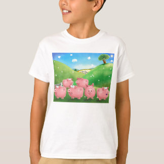 Piggies in a field T-Shirt