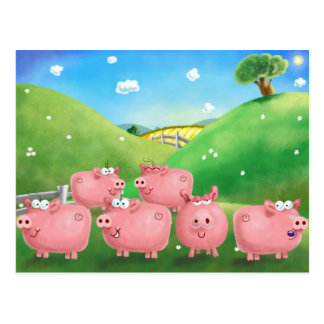 Piggies Postcard