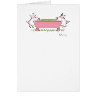 PIGGING OUT GREETING CARD