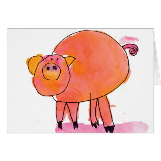 Piggle • Sarah Bowen, Age 7 Card