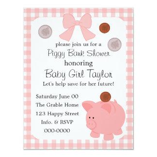 Piggy Bank Baby Shower Custom Invites