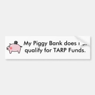Piggy Bank Bumper Sticker