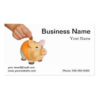 Piggy bank pack of standard business cards