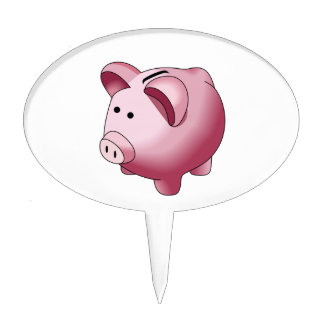 Piggy Bank Cake Toppers