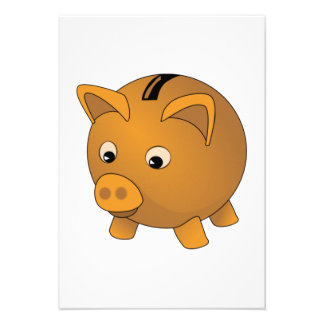 Piggy Bank Personalized Invitations