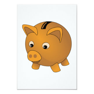 Piggy Bank Personalized Invitations