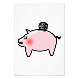 Piggy Bank Personalized Announcement