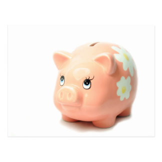 Piggy-bank Postcard