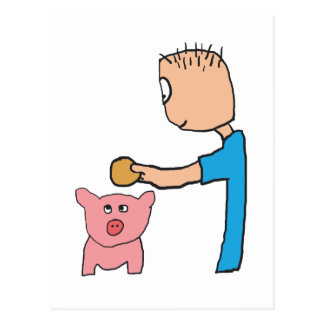 Piggy Bank Postcard