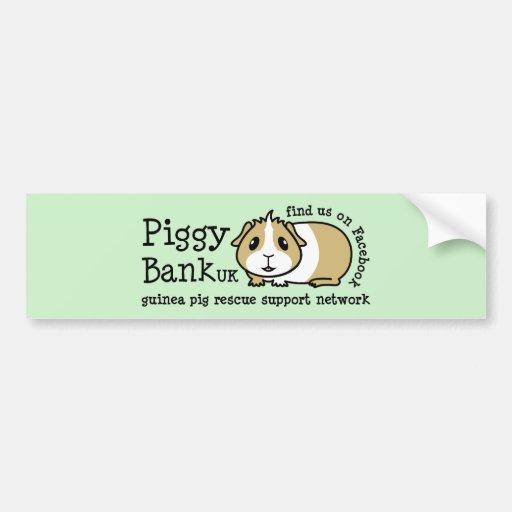 Piggy Bank UK Car Bumper Sticker
