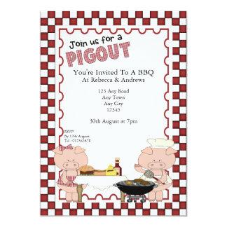 Piggy BBQ Party Card