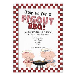 Piggy BBQ Party Custom Invites