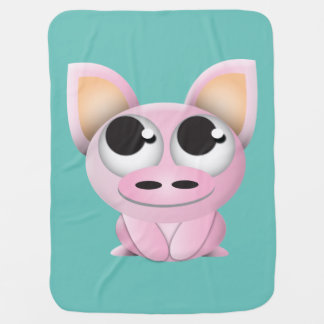 Piggy Blanket Receiving Blanket