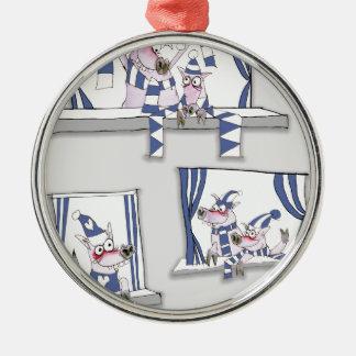 piggy blues forever christmas ornament