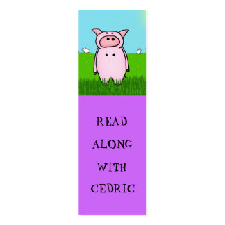 Piggy Bookmarks Business Card
