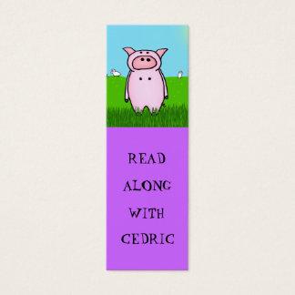 Piggy Bookmarks Mini Business Card