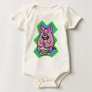 Piggy Cake Babygrow Baby Bodysuit