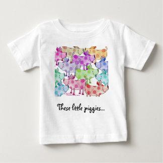 Piggy Collage Baby T-Shirt