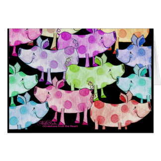 Piggy Collage Greeting Card