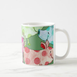 Piggy Collage Coffee Mugs
