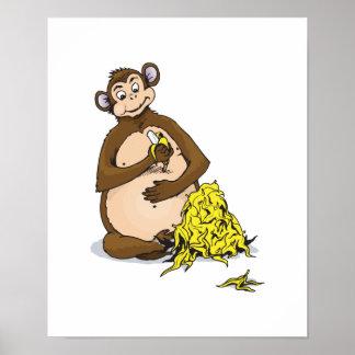 piggy for bananas monkey poster