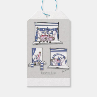 piggy forever blue gift tags
