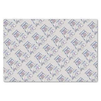 piggy forever blue tissue paper