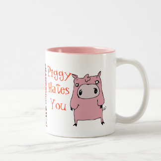 Piggy hates you mug