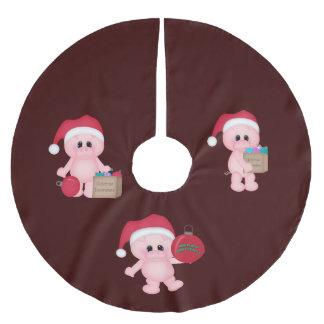 Piggy Helpers Christmas Tree Skirt Brushed Polyester Tree Skirt