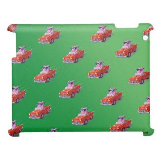 Piggy in Little Red Car Green case iPad Case