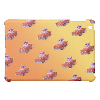Piggy in Little Red Car Yellow ipad mini case