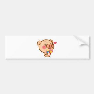 Piggy in Love Bumper Sticker