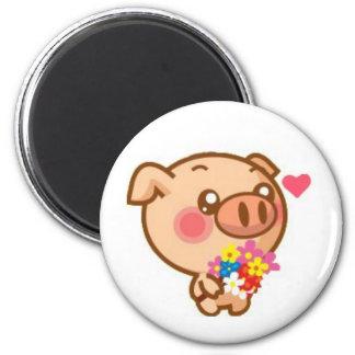 Piggy in Love Fridge Magnets