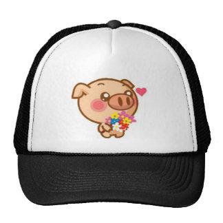 Piggy in Love Mesh Hats