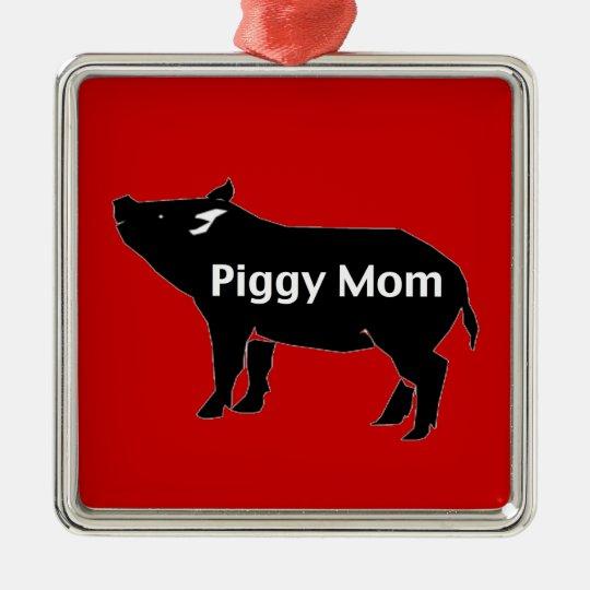 Piggy Mum Christmas Ornament