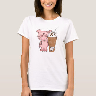 Piggy Needs Caffeine Women's T-Shirt