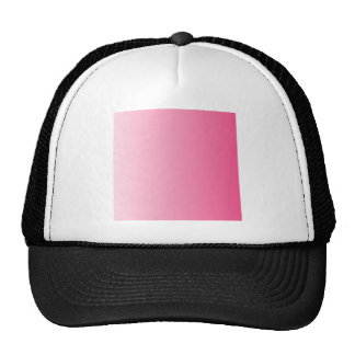 Piggy Pink to French Rose Vertical Gradient Mesh Hats