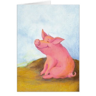 Piggy Pinkles / Notecards Card