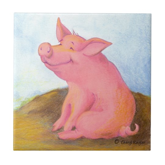 Piggy Pinkles/Tile Small Square Tile