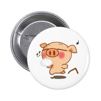Piggy Pirouettes 6 Cm Round Badge