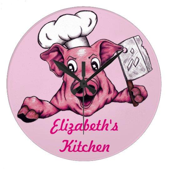 Piggy The Hamicidal Maniac Funny Chef Pig Art